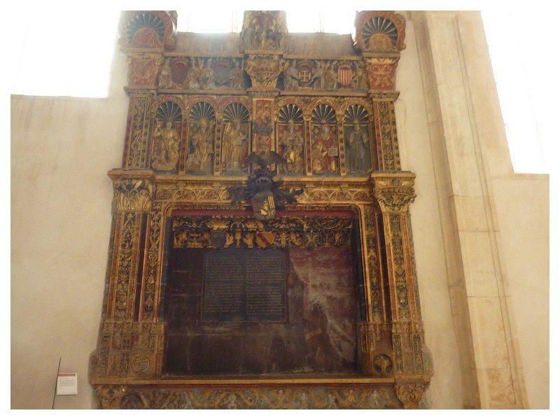 enfeu polychrome renaissance du duc René II de Lorraine.