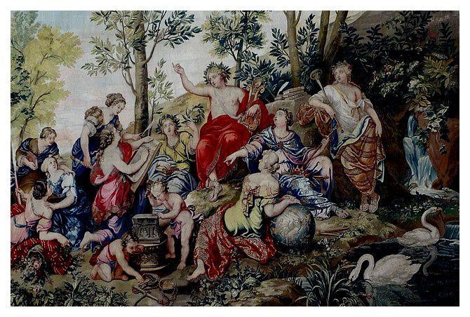 """monnumentale tapisserie des Gobelins """"l'Automne ou le Triomphe de Bacchus et d'Ariane"""" 1702/1708"""
