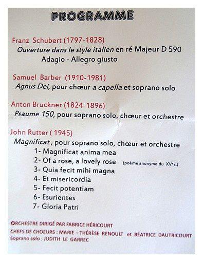 Magnificat de John Rutter : juin 2015
