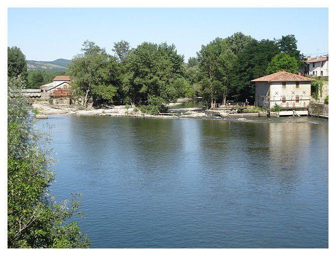 le moulin du Foulon, moulin à grains et à huile, sur la Garonne