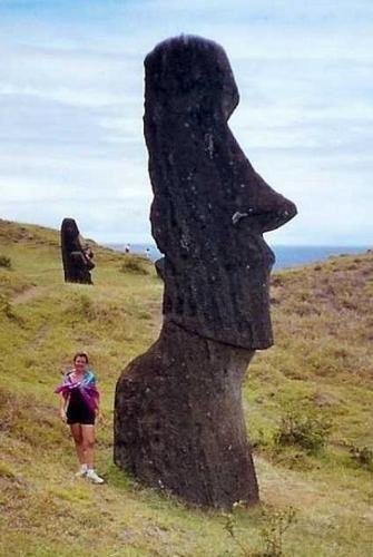 """""""Répertoire"""" L'île de Pâques, Easter island, Rapa nui, en 1986, photos by GeoMar 022.ex."""