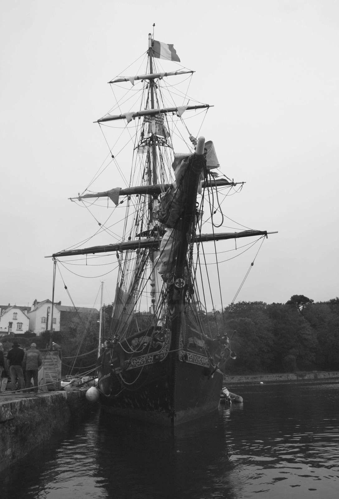 250 - Brigantin Tres Hombres, escale à Port-Rhu, cabotage à la voile, Douarnenez,  TOWT, Trans Oceanic Wind Transport, Voilier de travail, photos by GeoMar