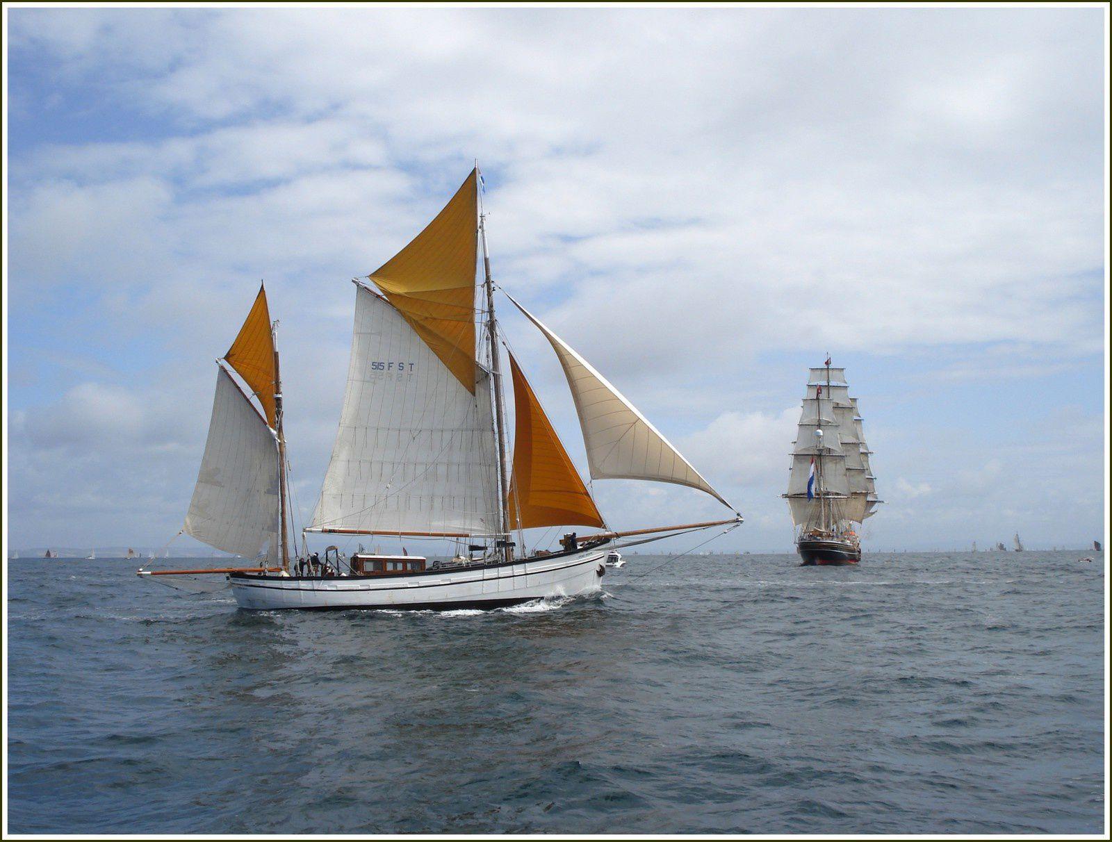 265 - Voilier Etoile-Molène yawl aurique bateau de pêche construit par Auguste Tertu 1954 Camaret France photos caractéristiques