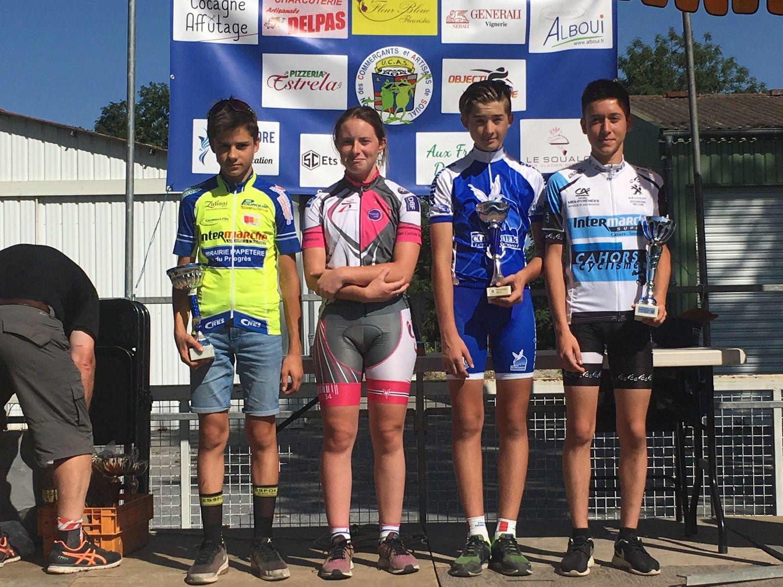 Adrien VIDAL 3ème du GP Cycliste de SOUAL