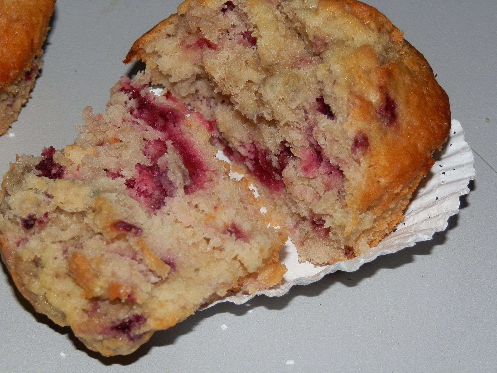 Muffins coco/framboise