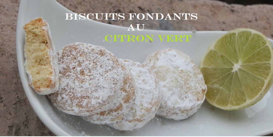 Biscuits fondants au citron vert de Martha Steward