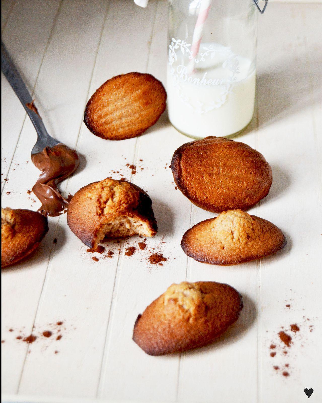 Madeleine au nutella