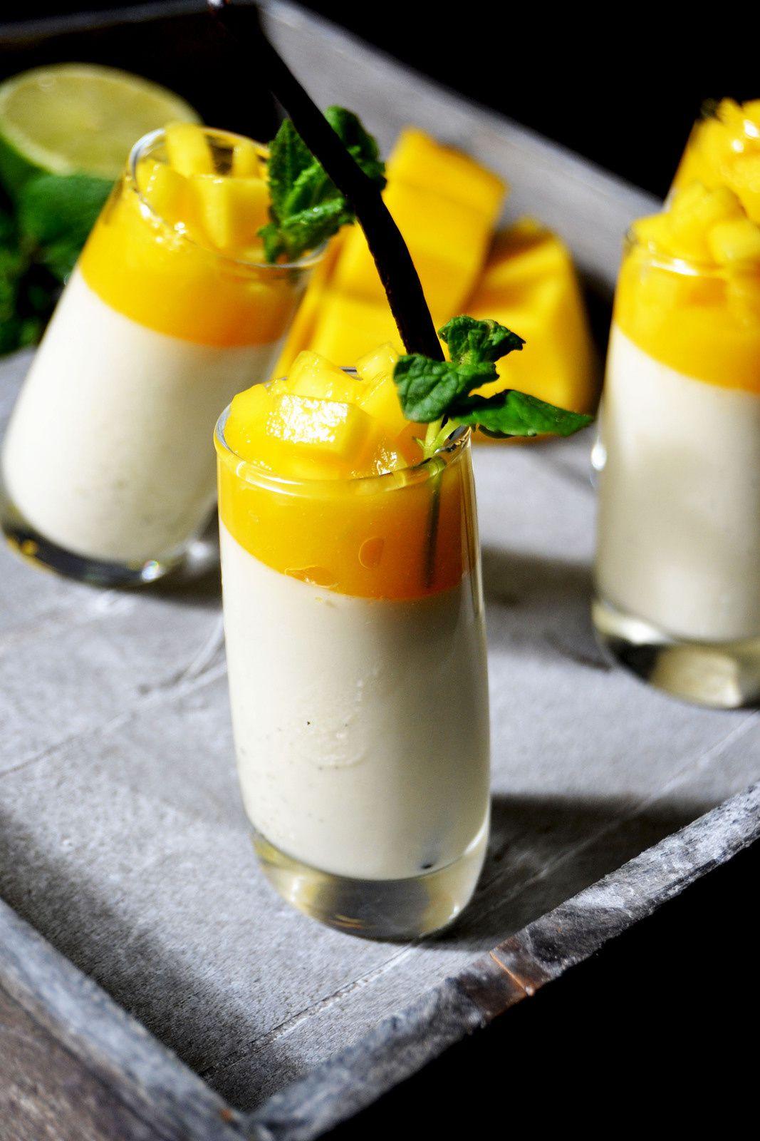 Panna cotta citron vert et coulis de mangue (1er partenaire)
