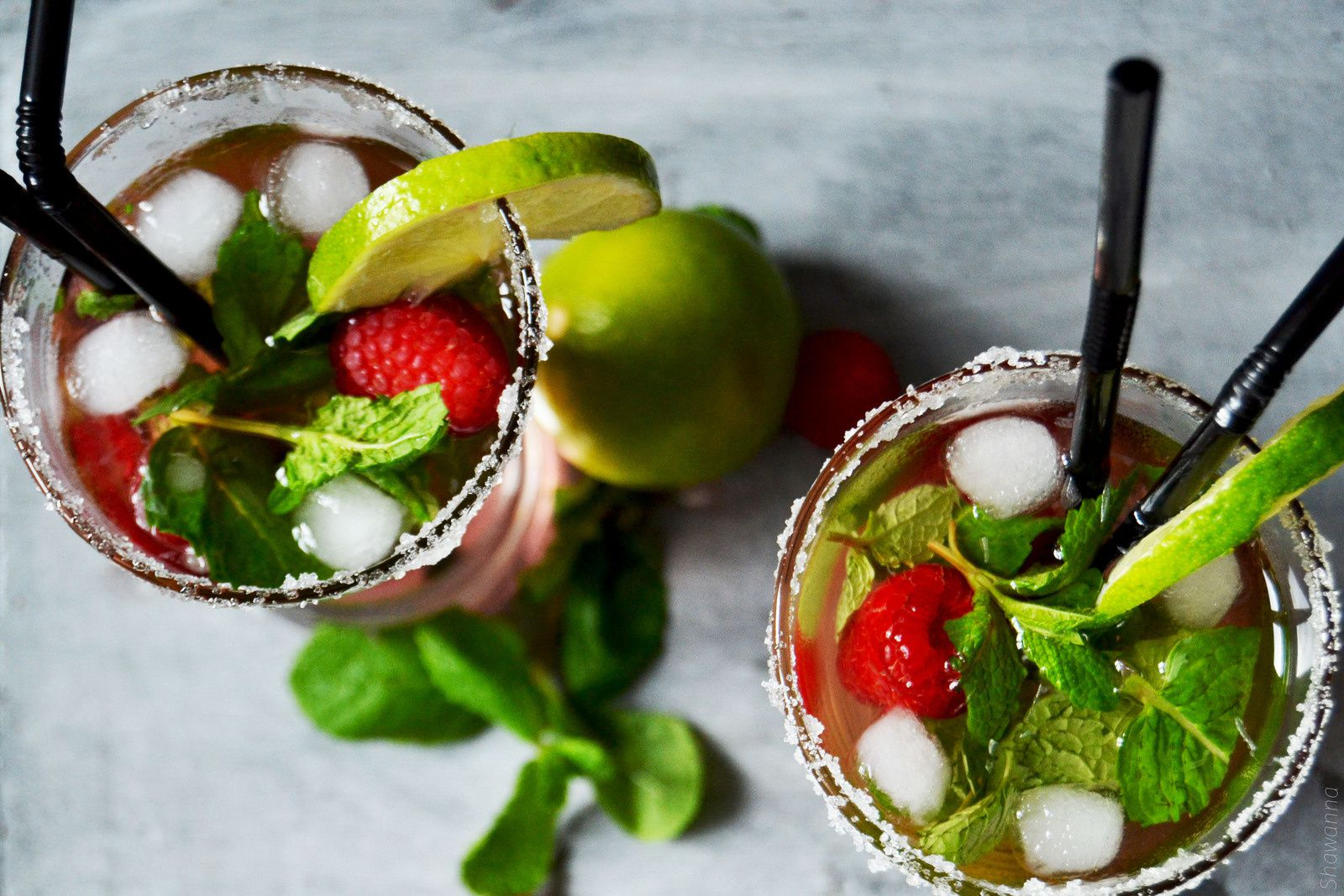 Mojito framboise sans alcool Cocktail