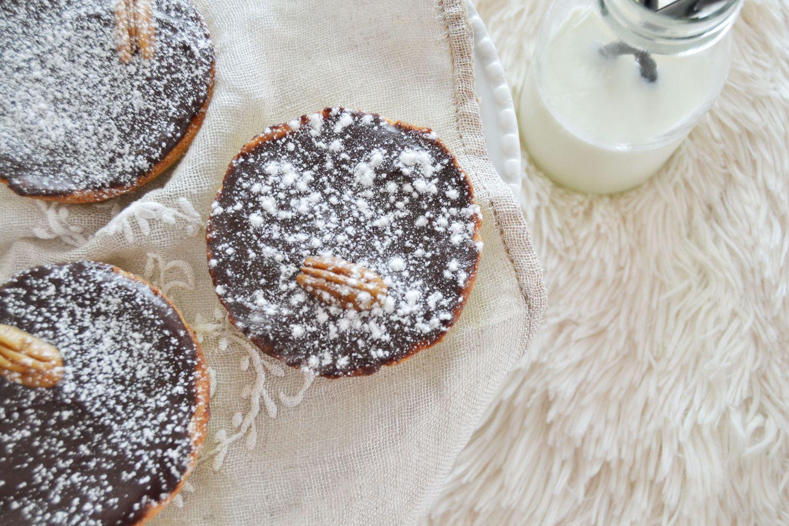 Tartelletes Caramel/Pecan &amp&#x3B; crémeux chocolat