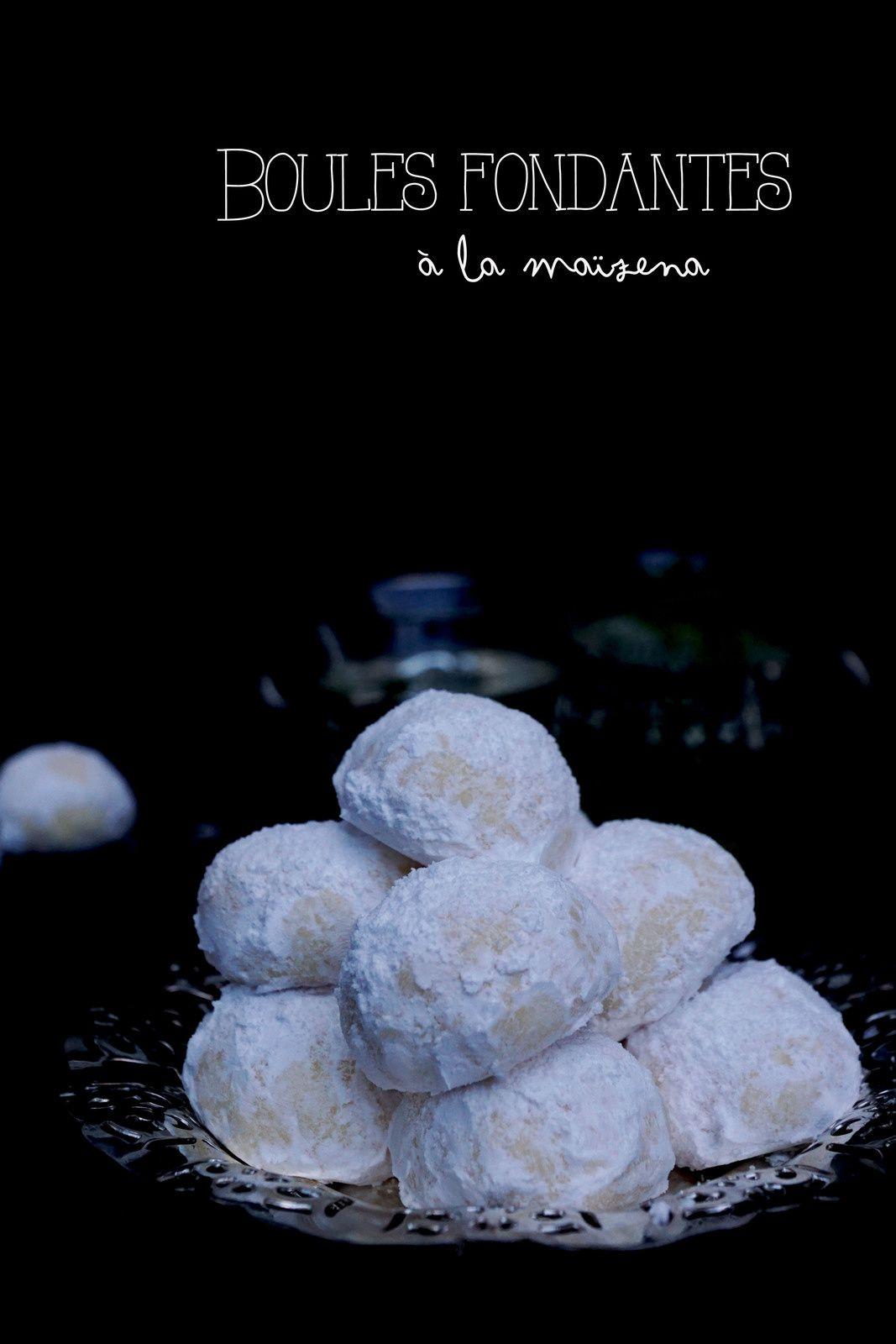 Boules fondantes à la maïzena