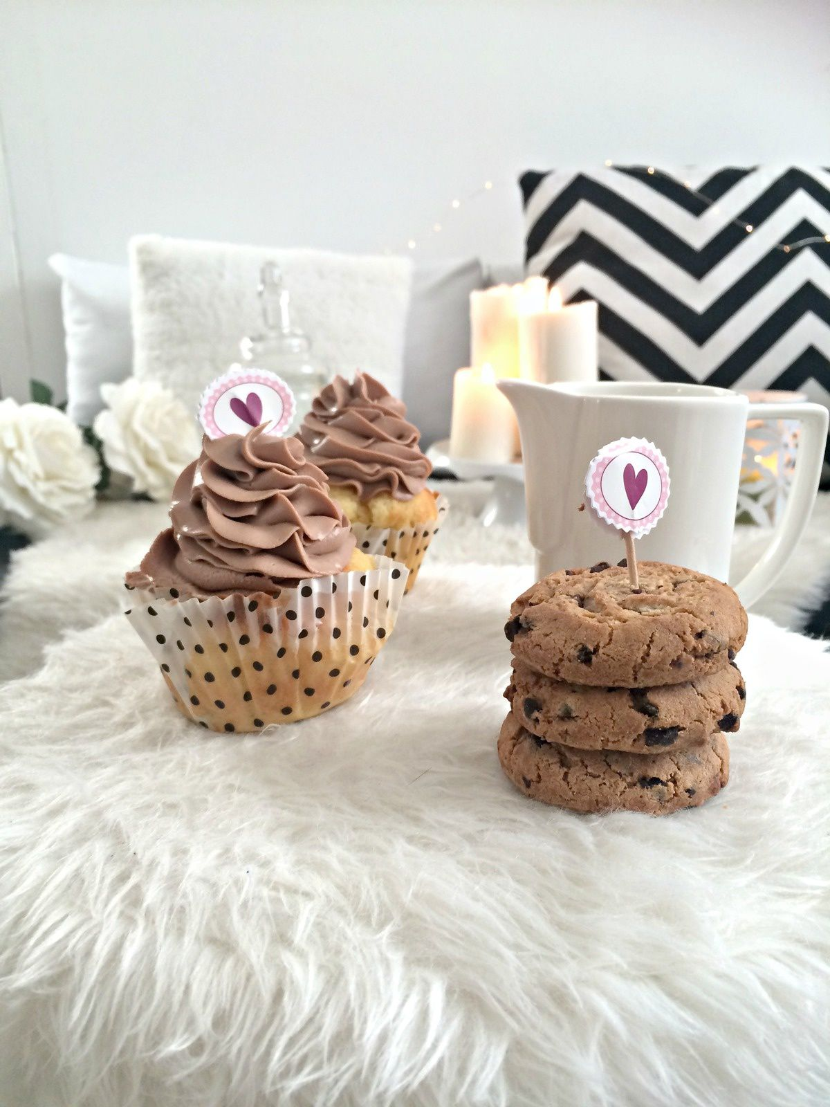 Cookies coeur Nutella &amp&#x3B; Chocolat chaud speculoos Perfect cocooning