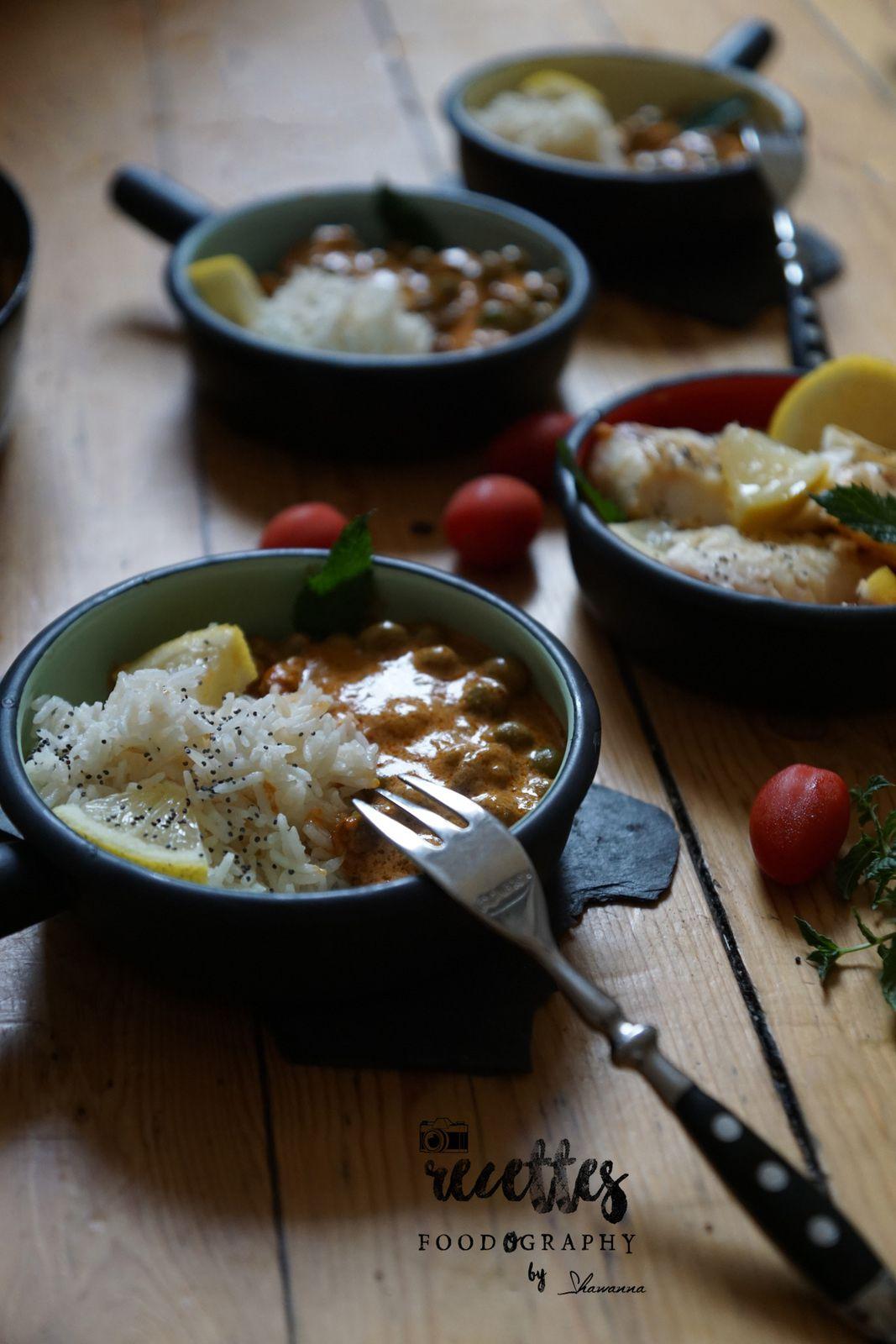 Riz pilaf à la sauce tomate &amp&#x3B; Petit pois