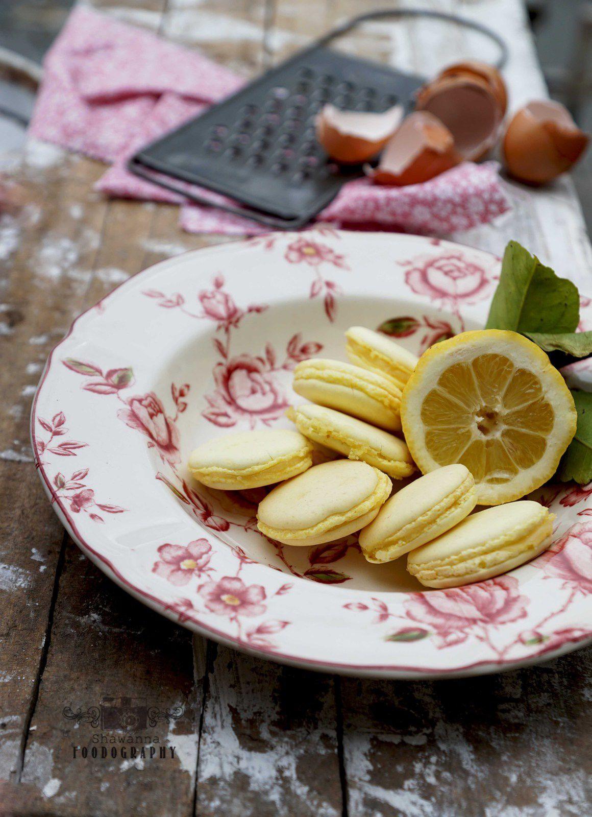 Macaron au citron à la meringue italienne
