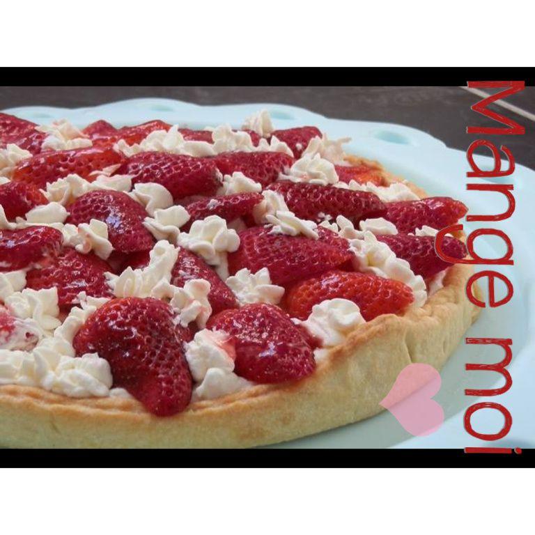 Tarte aux fraises mascarpone/chantilly