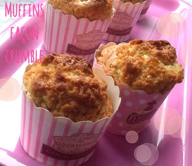 Muffins façon crumble