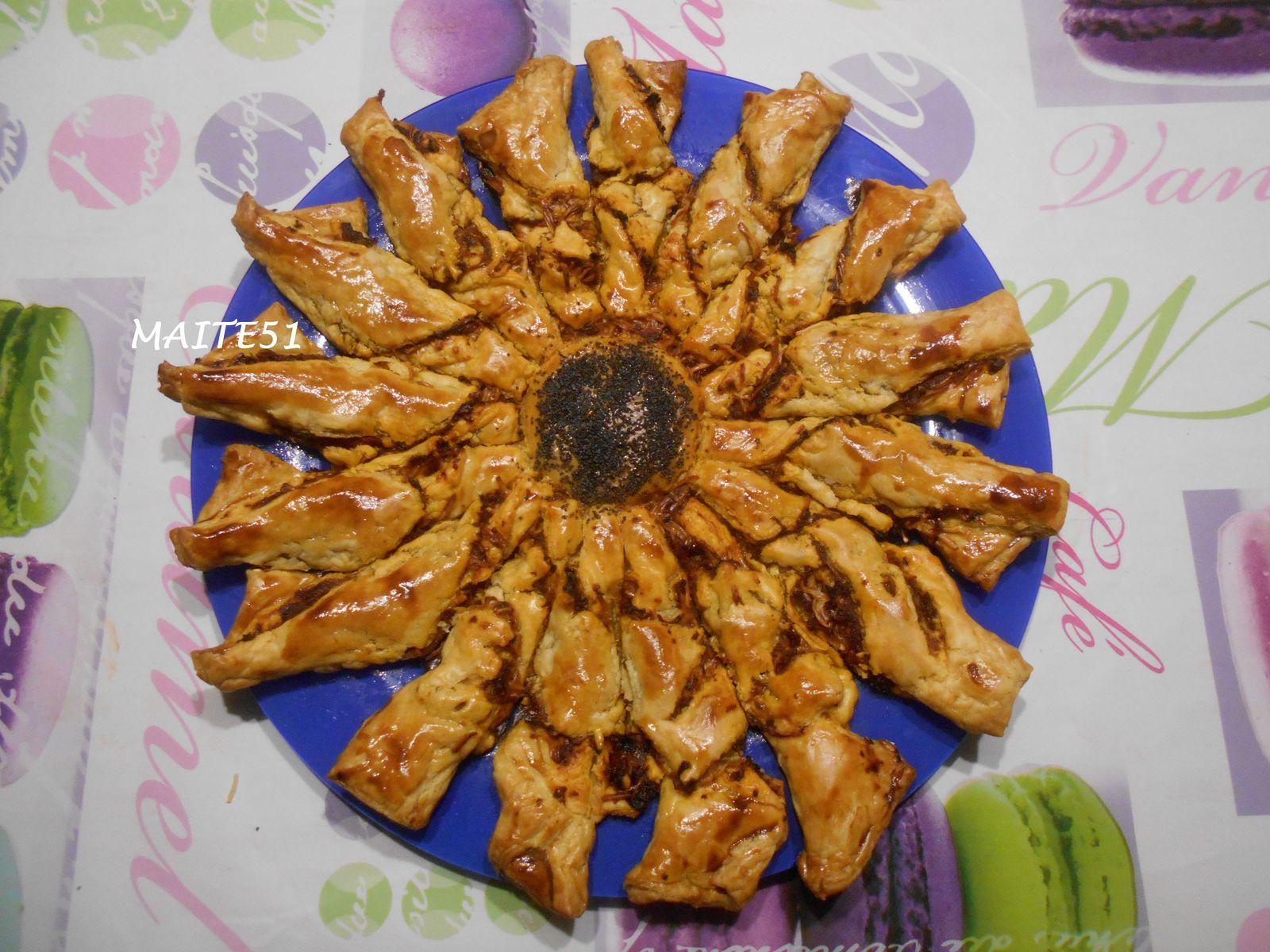 Tarte soleil au pesto rouge a vos fourneaux chez maite51 - Tarte soleil sucree originale ...