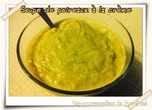 Soupe de poireaux à la crème