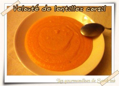 Velouté de lentilles corail aux carottes et pommes de terre