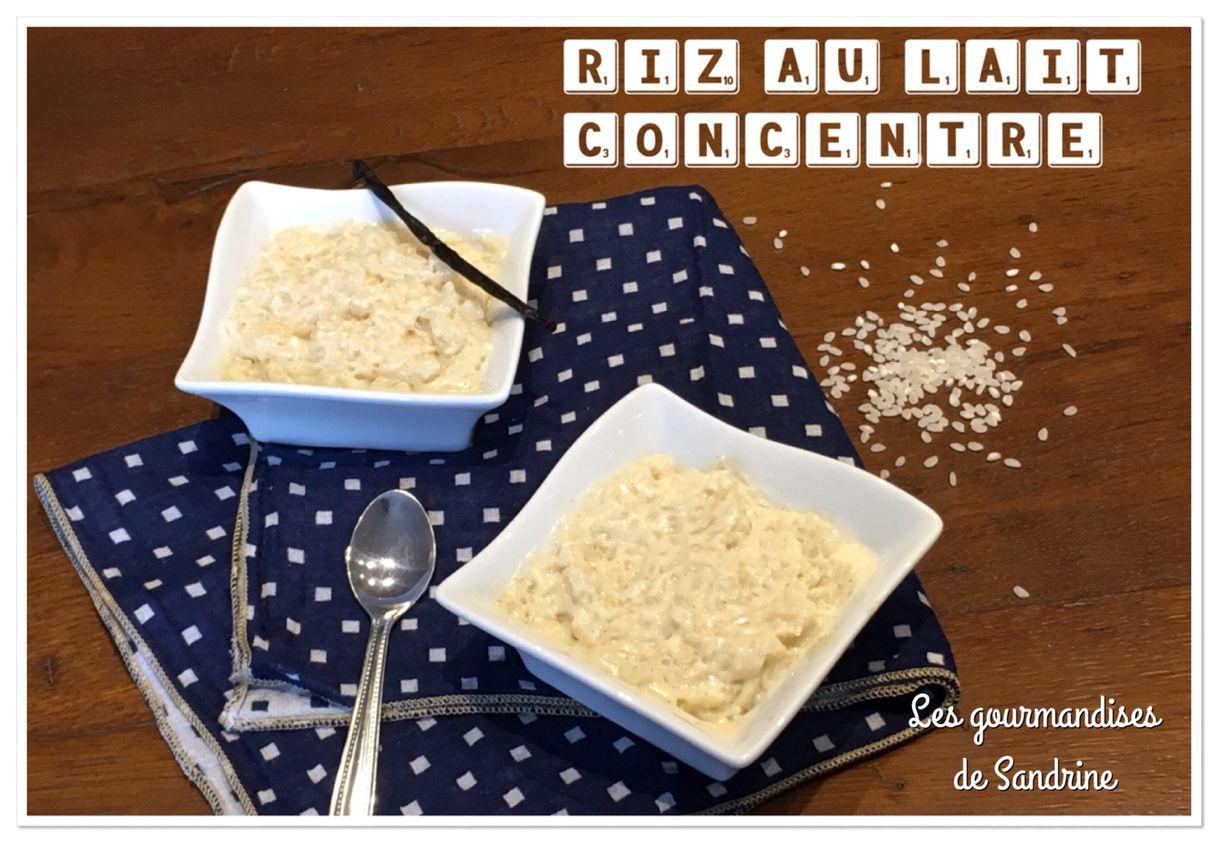 Riz au lait concentré