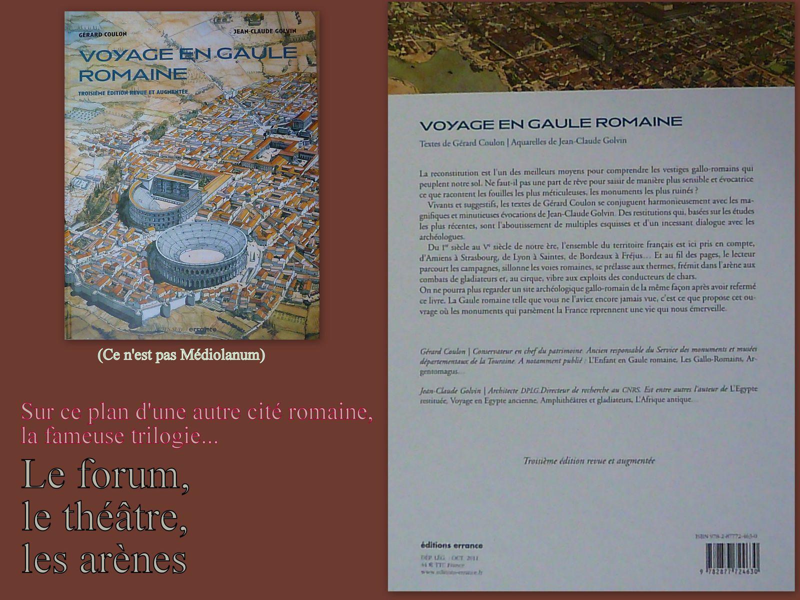 23 - Médiolanum Santonum.. Vue du ciel, une aquarelle de Jean-Claude Golvin et son livre