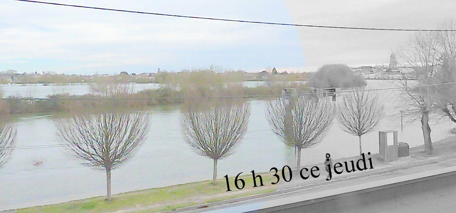 """6 - ALERTE VENT - """" Le passager de la crue """" .. La Charente s'étale - Au bar """" Jean """" le candidat rencontre """" ses """"  Saintais"""