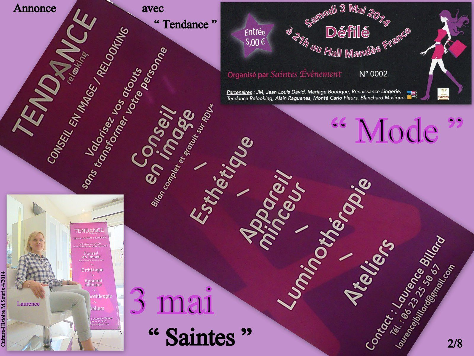 16 - Objet postal perdu - La mode annoncée par Laurence -  Josiane Balasko tourne à Saintes
