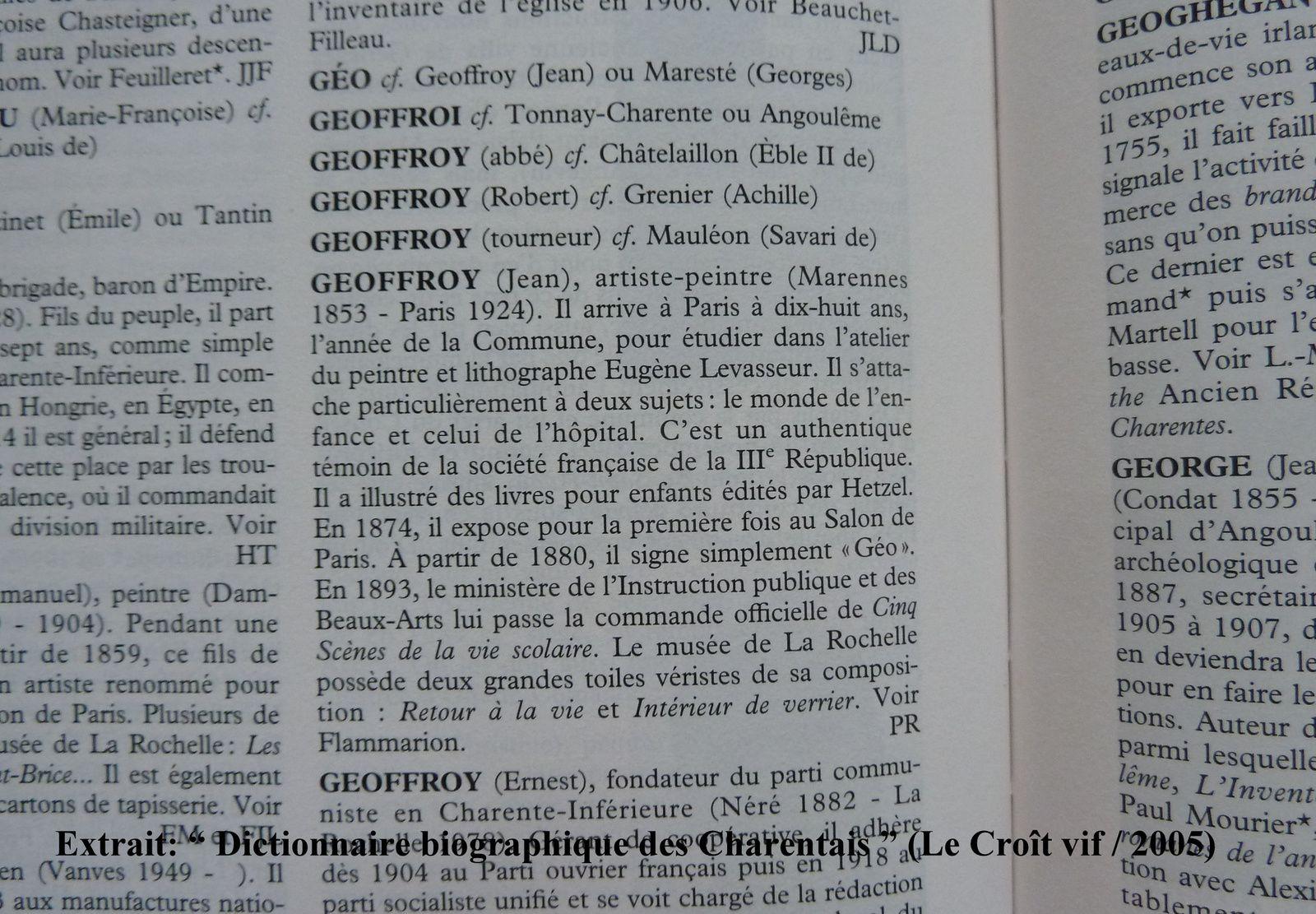 12 - Images.. avec Miss Poitou-Charentes: Mathilde, les thermes romains, un curieux ciel - Jean Geoffroy.. un peintre scolaire..!! A Saintes et au musée