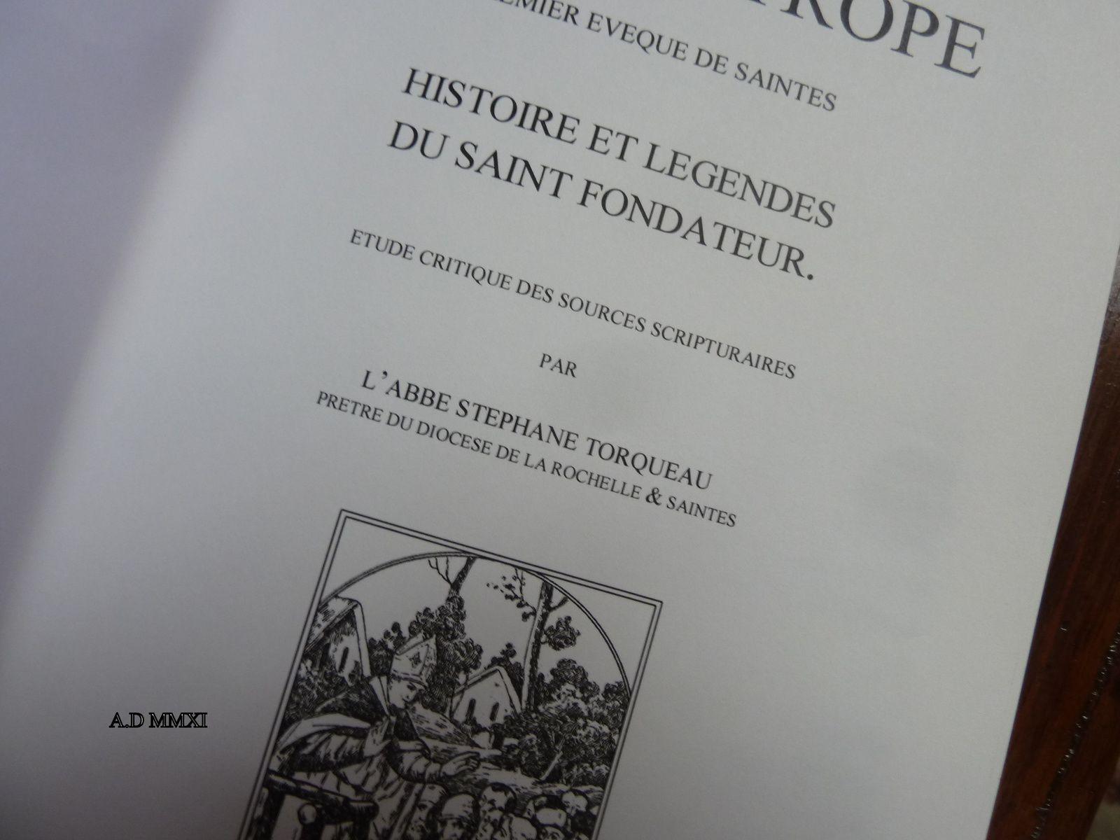 Eutrope... autre histoire autre temps..... Ce premier évêque de Saintes fut très mal vu par les politiques de Saintes, enfin de Médiolanum Santonum, voici... environ 1800 ans.