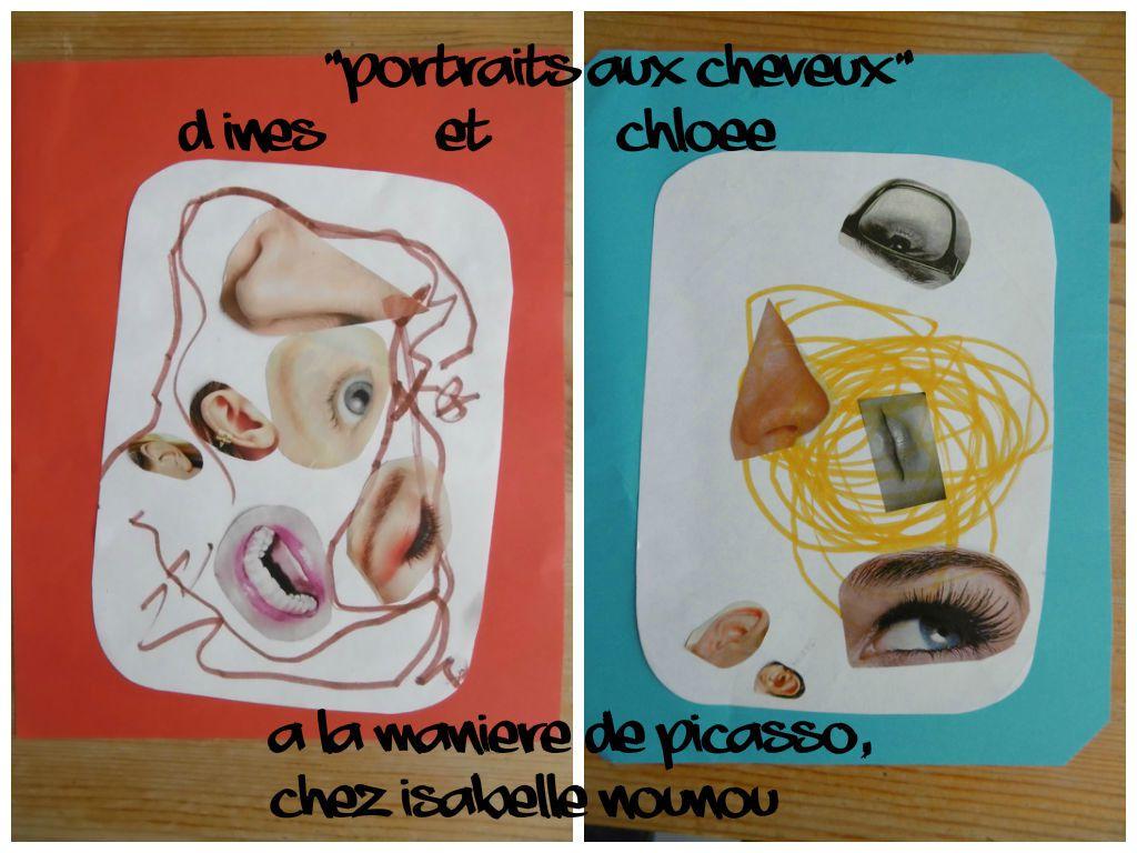 Portraits aux cheveux : à la manière de Picasso (bis)