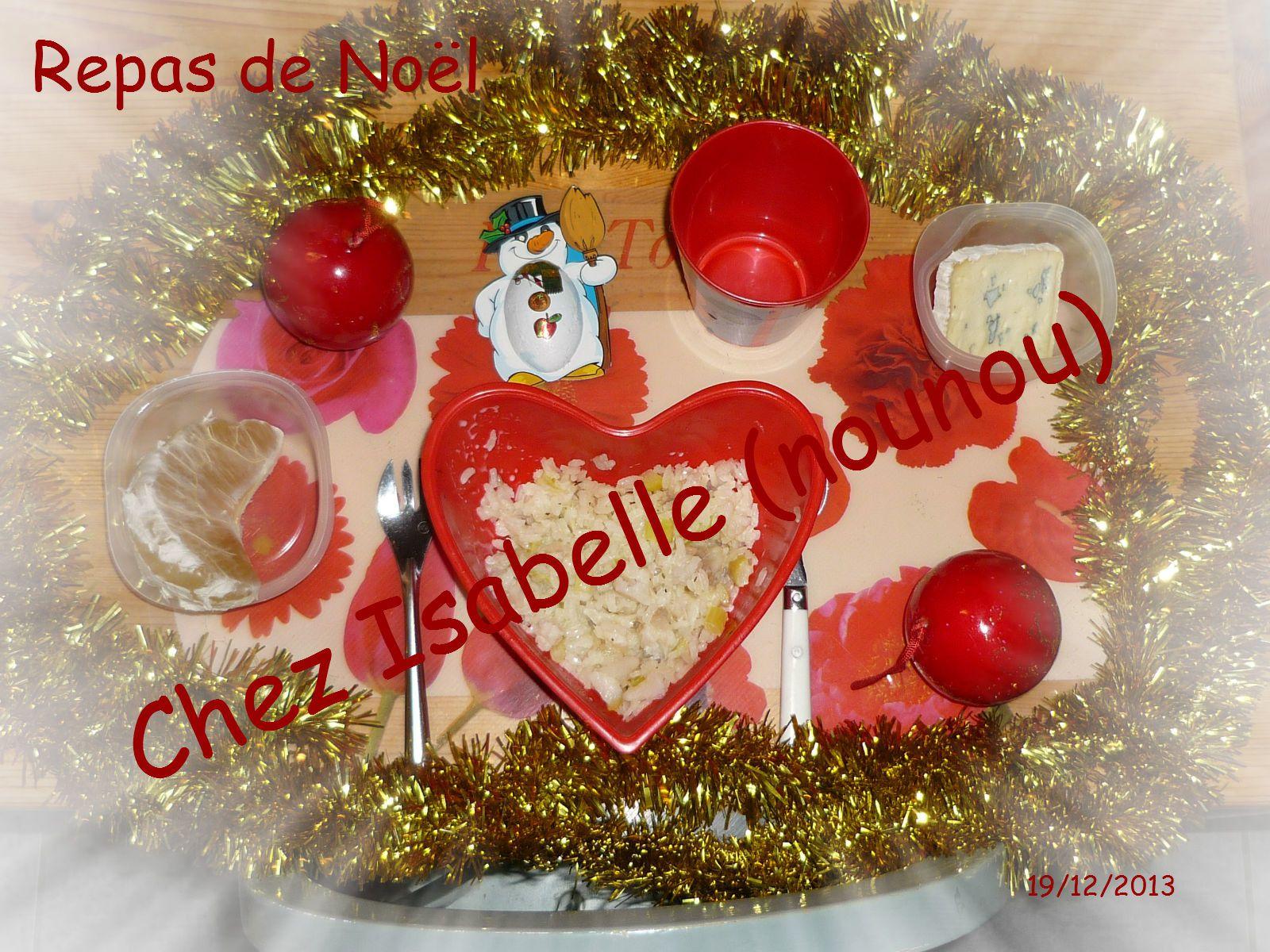 Menu de Noël du 19/12/2013