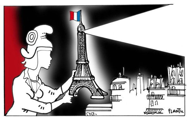 Paris, 13/11/2015, dessins hommages