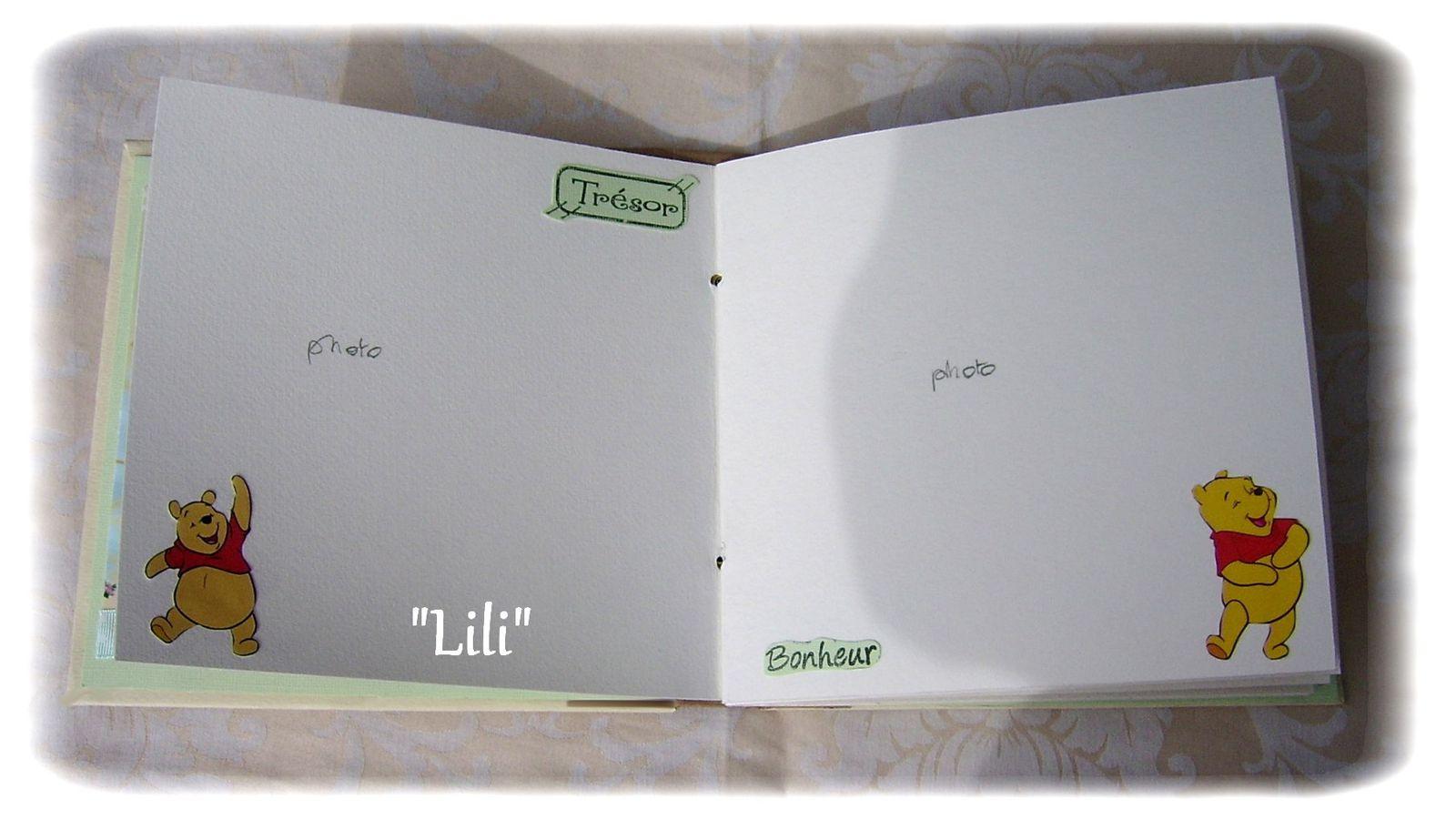 Une partie de l'intérieur ou il y a 10 pages,la maman pourra donc y insérer 20 photos
