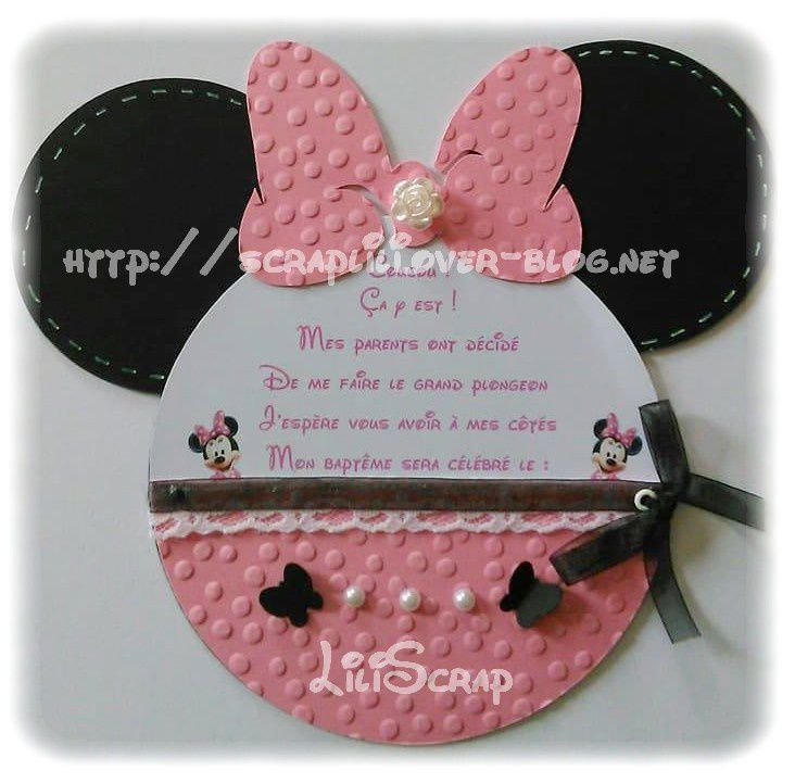 faire-part Minnie
