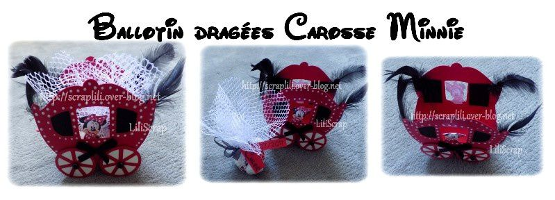 ballotin dragées Carosses Minnie