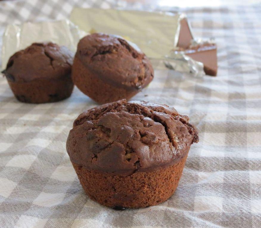 Muffins aux 2 Toblerones