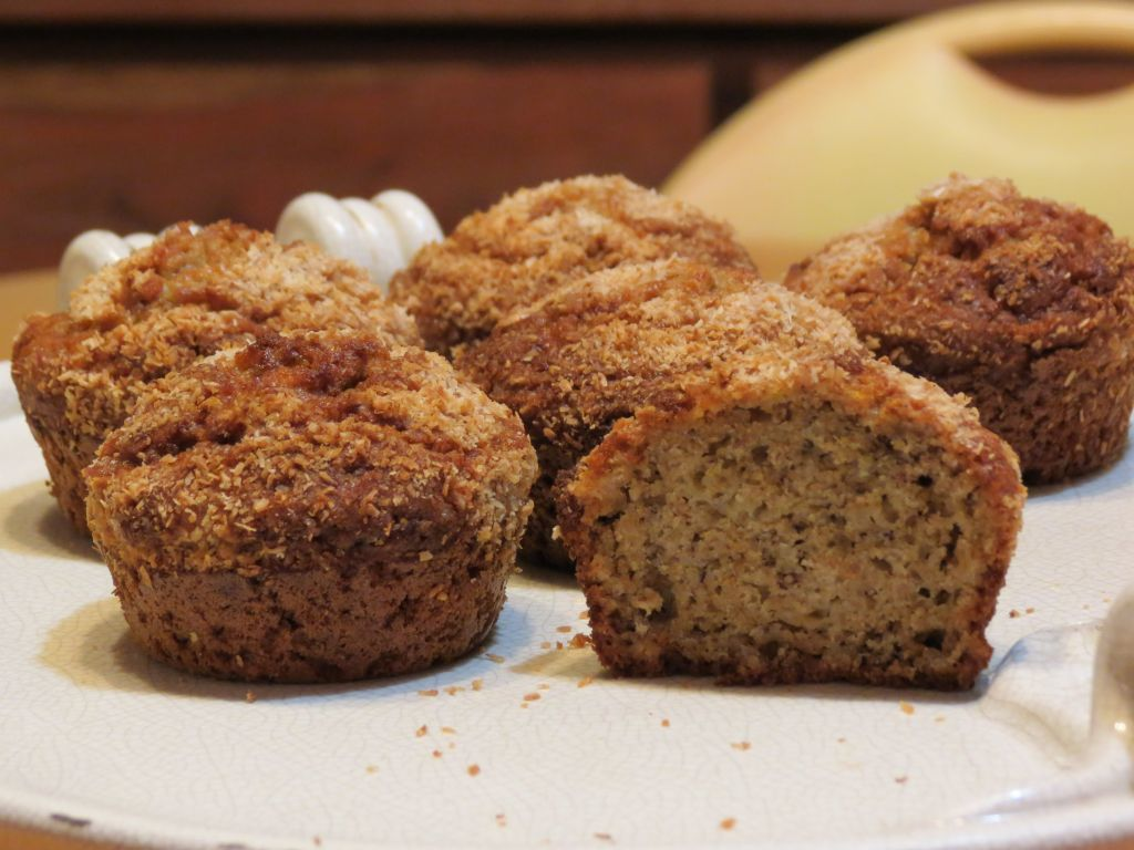 Muffins rustiques banane-coco