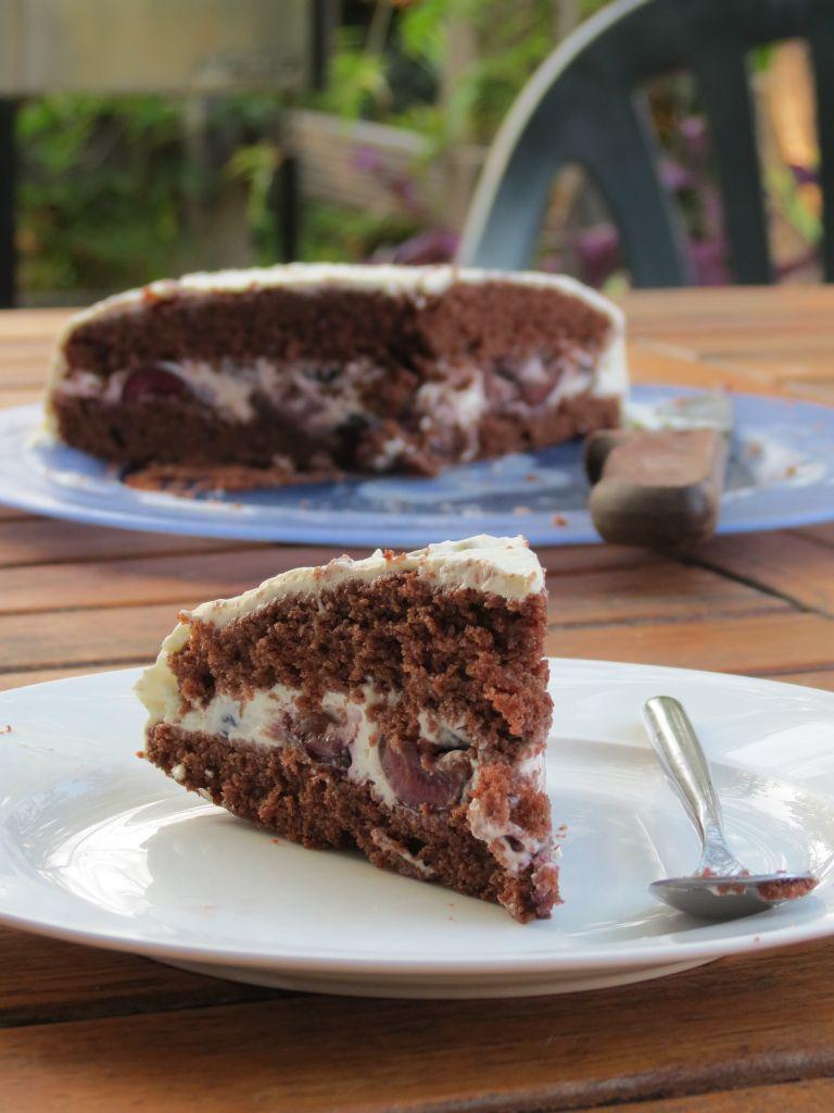 Gâteau comme une forêt noire