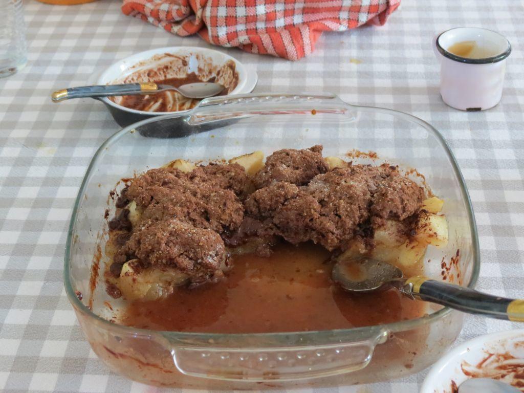 Cobbler poire-chocolat