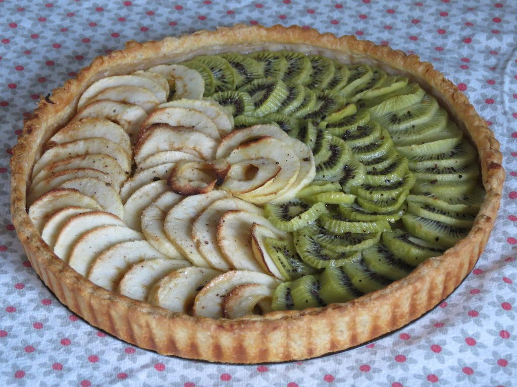 tarte aux pommes et aux kiwis saperlicroquette. Black Bedroom Furniture Sets. Home Design Ideas