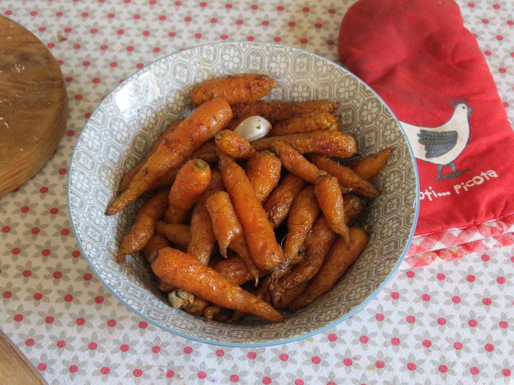 Carottes nouvelles rôties aux épices