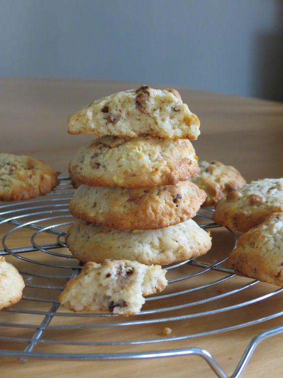 Cookies doudous aux pommes et aux noix de pécan