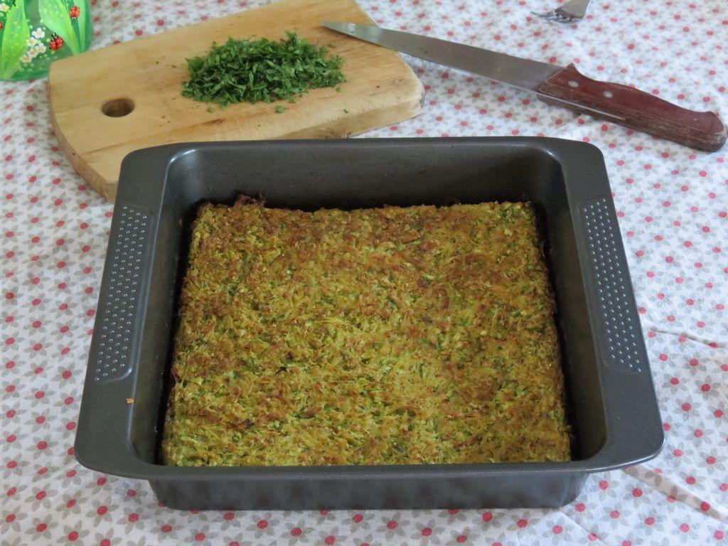 Galette de courgettes et de pommes de terre, cuite au four
