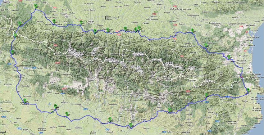 Le PyreneosTour 1300 km retour au point de départ le 28/06