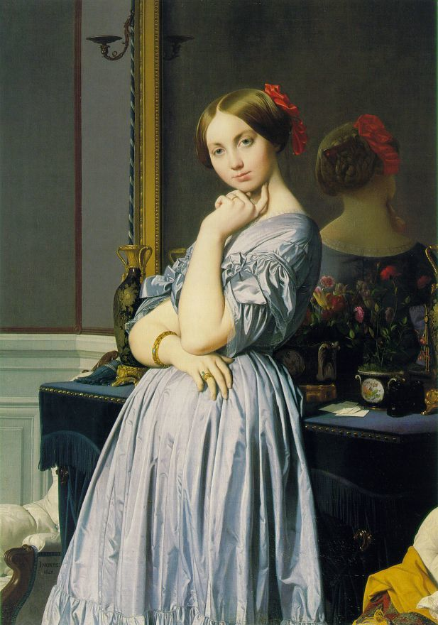 """La comtesse d'Aussonville"" (1848) par Dominique INGRES (1780-1867)"