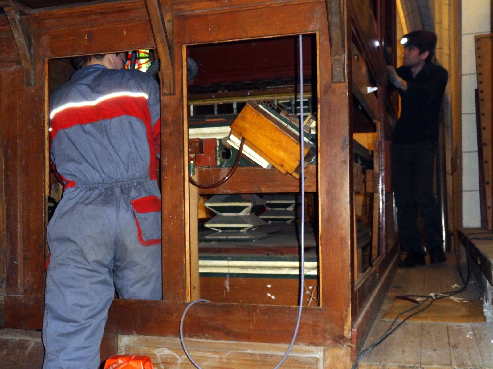 C'est parti pour la restauration de l'orgue