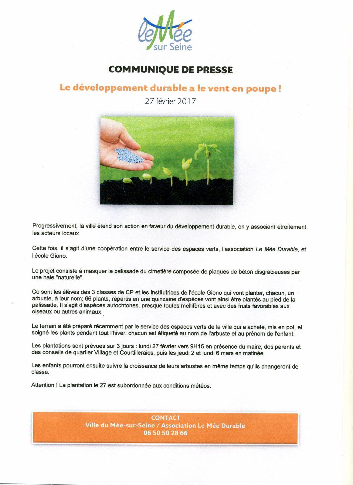 Action en faveur du développement durable