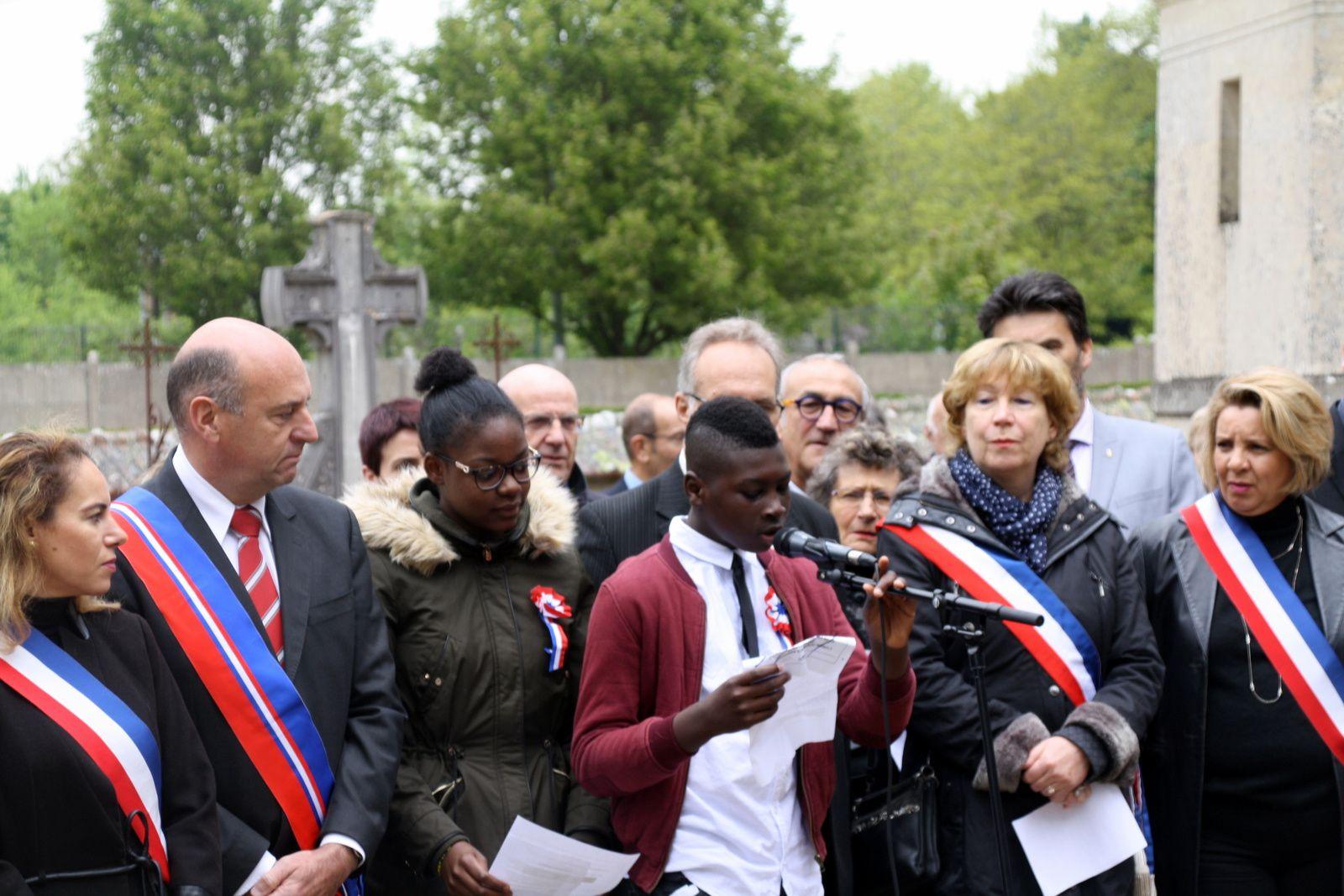 Commémoration du 8 mai 1945 au Mée sur Seine