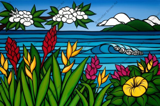 Surf Art : Heather brown chez Ponant Surf Shop