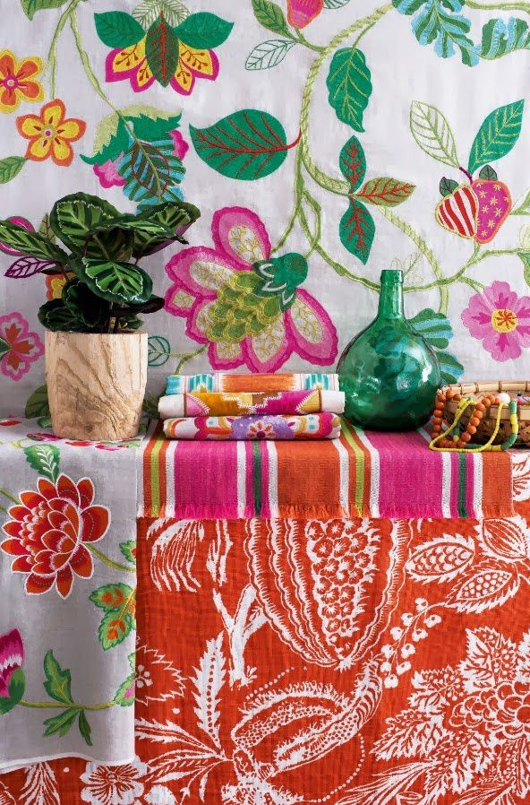 Waouh ! Tissus Manuel Canovas (collection 2014).
